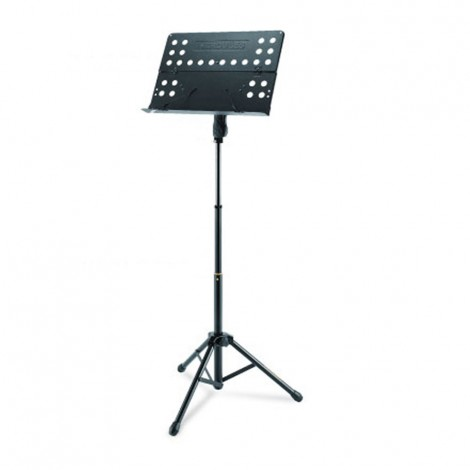 Hercules BS418B - Quik-N-EZ Three Way Height Adjustment Tripod Music Stand with Perforated Folding Desk