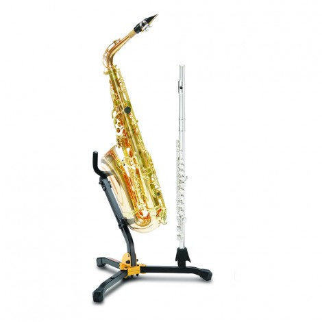 Hercules DS532BB - Stand for 1 Alto/Tenor SAX and 1Clarinet/Flute with Bag