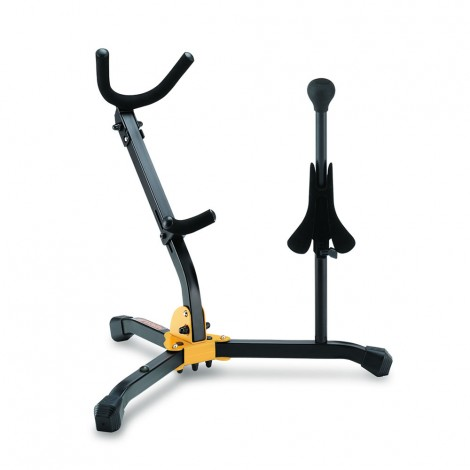 Hercules DS533BB - Stand for 1 Alto/Tenor SAX and 1 Soprano SAX with Bag