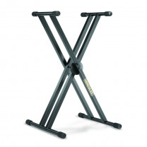 Hercules KS120B - EZ-LOK Double X Keyboard Stand, O/D: 25.4 mm
