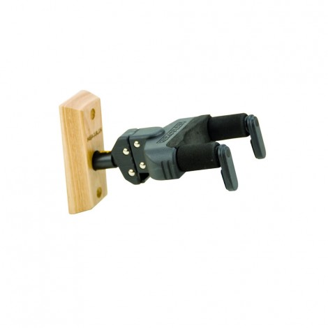 Hercules GSP38WB - Auto Grab Guitar Hanger for Wall Mounting by Wooden Board, Short Arm