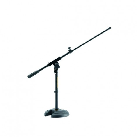 Hercules MS120B - Low Profile H-Shaped Base Mic. Stand with Short Telescopic Boom